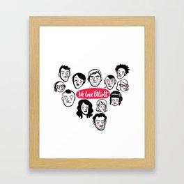 We Love Elliott Framed Art Print