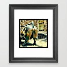This bull has massive balls. Framed Art Print