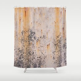 Abstract textures in old metal Shower Curtain