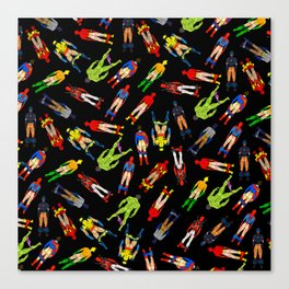 Superhero Butts Pattern (Dark) Canvas Print
