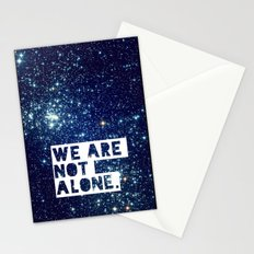 we are not alone - for iphone Stationery Cards