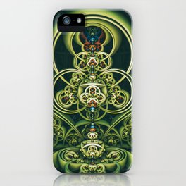 Time Shell IV. Green Abstract Geometry iPhone Case