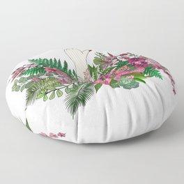 Botanical Bird Bouquet Floor Pillow