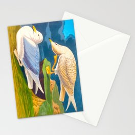 White Winged Silver Gull Stationery Cards