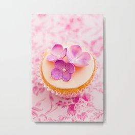 Decorated cupcake Metal Print