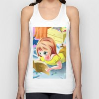 bible Tank Tops featuring Girl Reading the Bible by Bemmygail