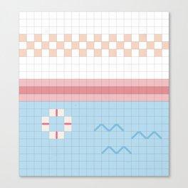 Pixelated Swimming Pool Canvas Print