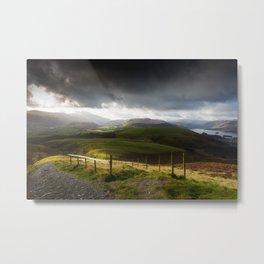 Keswick via Skiddaw Metal Print