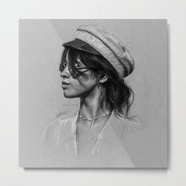 Camila Gray Sketch Metal Print