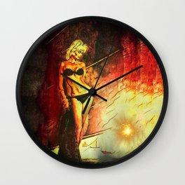 Night is on Fire Wall Clock