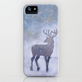 Winter Stag iPhone Case
