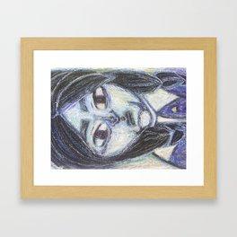 A contrary girl Framed Art Print