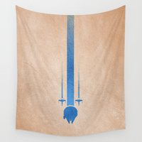 jedi Wall Tapestries featuring Jedi lightsaber, starwars, light side. by youcoucou