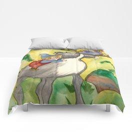 Elves and Reindeer Comforters