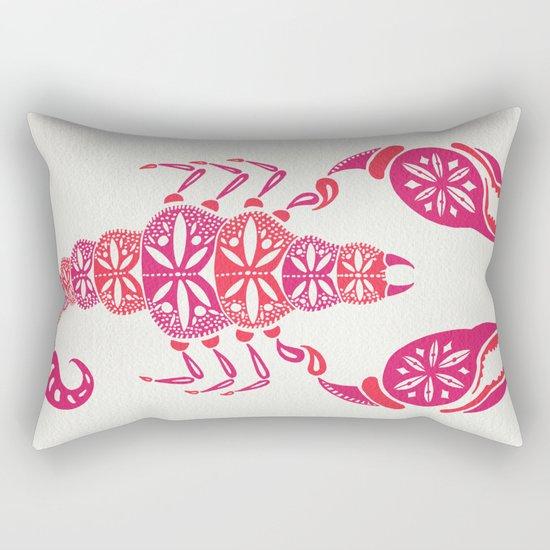 Pink Scorpion Rectangular Pillow