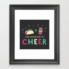 Tacos and Beer Framed Art Print