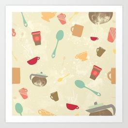 Caffeine Crazy Art Print