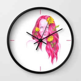 Roses | Endometriosis awareness Wall Clock