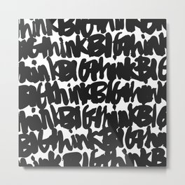 think Big pattern Metal Print