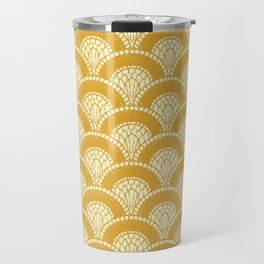 Yellow Wabi Sabi Wave II Travel Mug