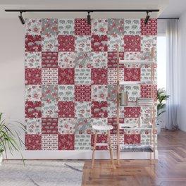 Alabama bama crimson tide quilt pattern florals football varsity alumni Wall Mural