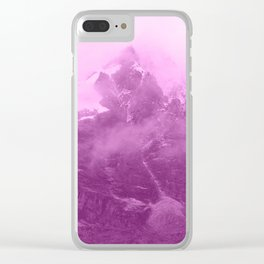 Rocky Mountain Fog Fuchsia Clear iPhone Case