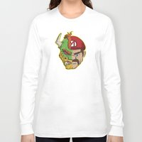 mario kart Long Sleeve T-shirts featuring Mario Chimera by The Cracked Dispensary