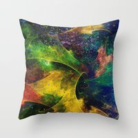 blanket Throw Pillows featuring Blanket of Stars 2 by Klara Acel