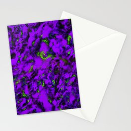 Fluttering purple Stationery Cards