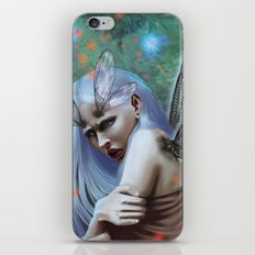 Dragonfly lady iPhone & iPod Skin