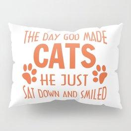 GOD MADE CATS Pillow Sham