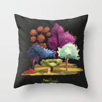 robin hood Throw Pillows featuring Robin Hood! The Forest. by Katia Grifols