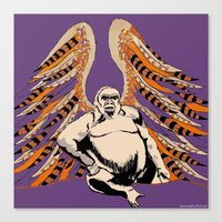 ape Canvas Prints featuring Ape by Miriam Kendrick