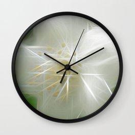 White Shiny Jasmine Wall Clock