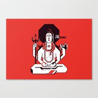 shiva Canvas Prints featuring Shiva by Tshirtbaba