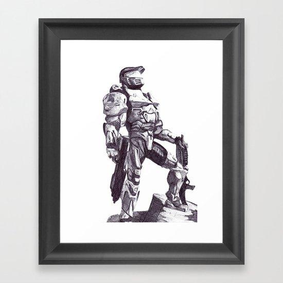 Master Chief 117 Framed Art Print