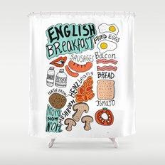 English Breakfast Shower Curtain