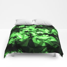 Dark green space stars with glow in the distance from the foil in perspective. Comforters