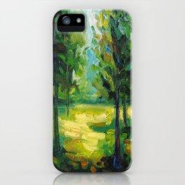 Sun on Trees iPhone Case