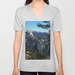Imposing Glacier Point View Unisex V-Neck