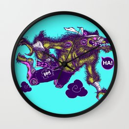 Sky High Wolf Wall Clock