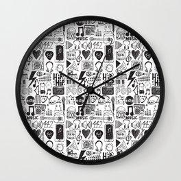 Music Doodles Wall Clock