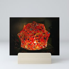 Glowing Stained Glass Lamp Mini Art Print