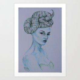A coiled mind Art Print