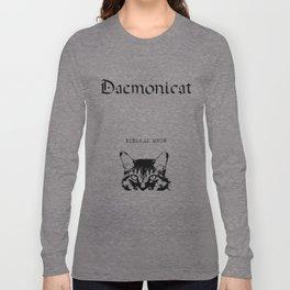 CAT METAL : Daemonicat - Eternal Meow Long Sleeve T-shirt