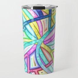 Candy Colored Clown Coils Travel Mug