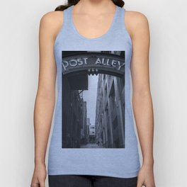 Post Alley in Seattle Washington - Black and White Unisex Tank Top