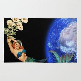 swimming away #collage Rug