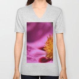 Pink Rockrose Unisex V-Neck