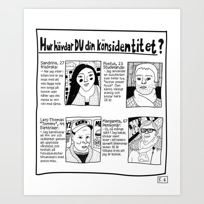 Hur hävdar du din könsidentitet? Enruting/print av Sanna Granqvist Art  Print by granqvistshop | Society6